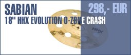 "Sabian 18"" HHX Evolution O-Zone Crash"