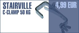 Stairville C-Clamp 50 kg TV