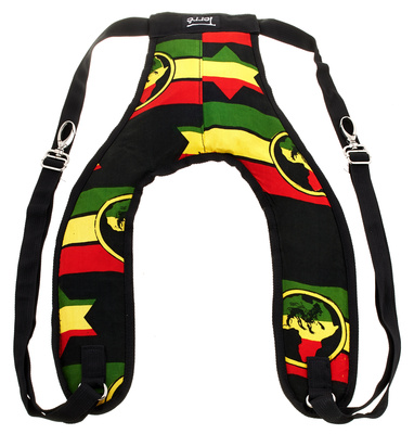 Terre Djembe Back Pack Strap Rasta