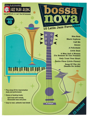 Hal Leonard Bossa Nova Jazz Play-Along