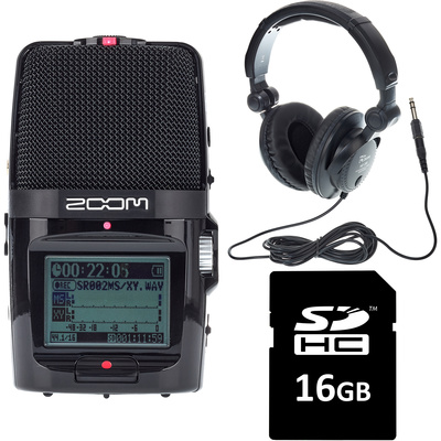 Zoom H2N Headphone  card Bundle