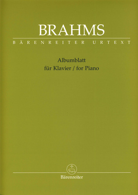 Brenreiter J.Brahms Albumblatt f.Klavier