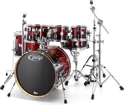 DW PDP CM7 Rock Red / Black
